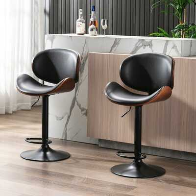 Norwood Swivel Adjustable Height Bar Stool - Wayfair