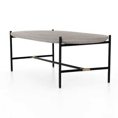 Finian Coffee Table, Natural Brass - West Elm