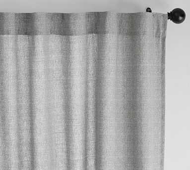 "Broadway Pole-Pocket Curtain, Set of 2, 50 x 108"", Gray - Pottery Barn"