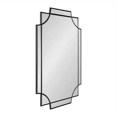 Kate and Laurel Minuette Rectangle Black Wall Mirror - Home Depot
