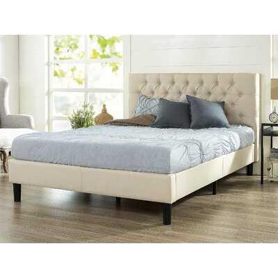 Queen Cream Hoffmann Tufted Upholstered Platform Bed - Wayfair