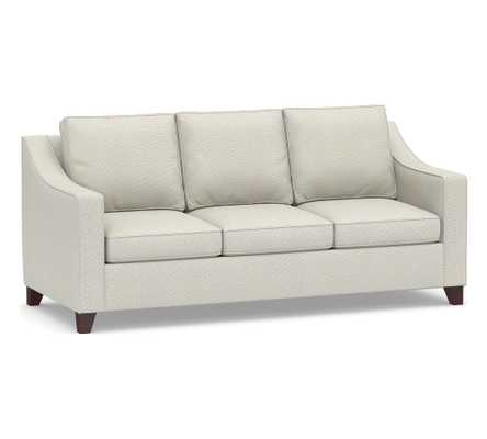 Cameron Slope Arm Upholstered Sleeper Sofa, Polyester Wrapped Cushions, Performance Heathered Basketweave Dove - Pottery Barn