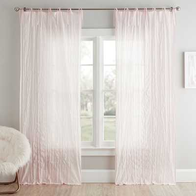 "Twisted Sheer, 84 "", Blush, Set of 2 - Pottery Barn Teen"