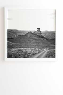 """Desert Southwest by Catherine McDonald - Framed Wall Art Basic White 30"""" x 30"""" - Wander Print Co."""