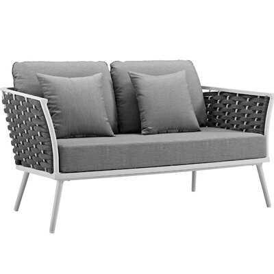 Ian Outdoor Loveseat with Cushions - AllModern