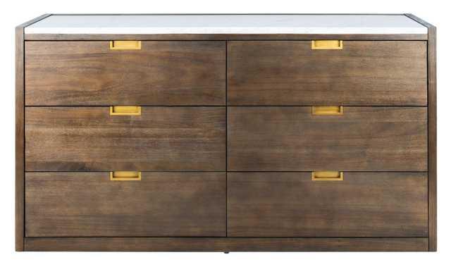 Adeline 6 Drawer Dresser - Dark Chocolate - Arlo Home - Arlo Home