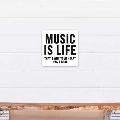 Moxee Music Is Life Wrapped Canvas Art - Wayfair