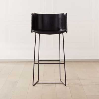 "Yukon Bar Stool 30"" Black - CB2"