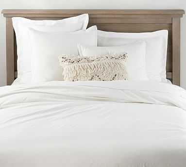Spencer Washed Cotton Duvet, King/Cal King, White - Pottery Barn