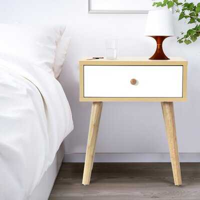 Larimore 1 - Drawer Nightstand in Brown/White - Wayfair