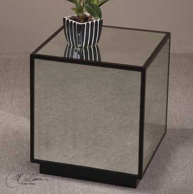 Matty Mirrored Cube Table - Hudsonhill Foundry
