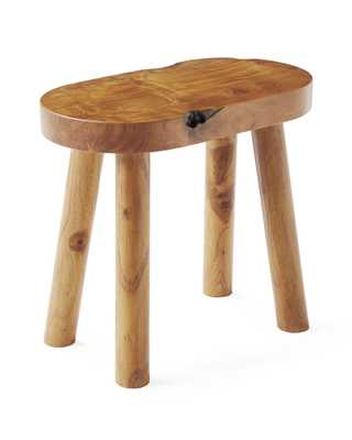 Teak Oval Stool - Serena and Lily
