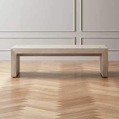 Blanche Bleached Acacia Coffee Table - CB2