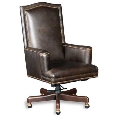 Hooker Furniture Woodward Genuine Leather Executive Chair - Perigold