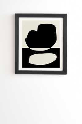 "Reverse 01 by mpgmb - Framed Wall Art Basic Black 14"" x 16.5"" - Wander Print Co."
