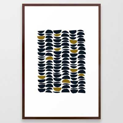 Balance Framed Art Print by Grace - Conservation Walnut - LARGE (Gallery)-26x38 - Society6