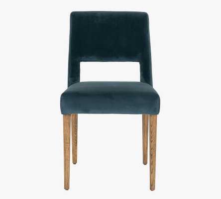 Keva Upholstered Dining Chair, Bella Jasper & Toasted Nettlewood - Pottery Barn