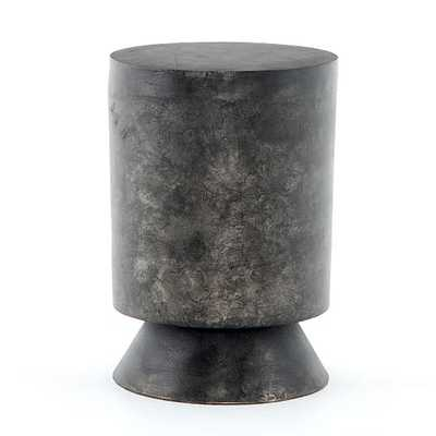 Brushed Black Aluminum Side Table - West Elm