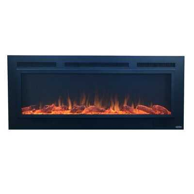 Mosteller Steel Recessed Wall Mounted Electric Fireplace - AllModern
