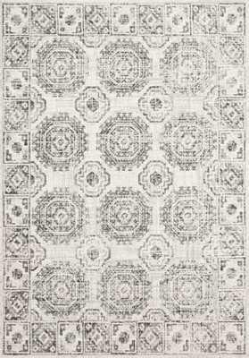 "Loloi Joaquin JOA-03 Ivory / Charcoal 5'-3"" x 7'-8"" - Loma Threads"