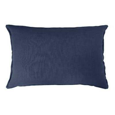 Lumbar Linen Pillow Navy - Threshold - Target