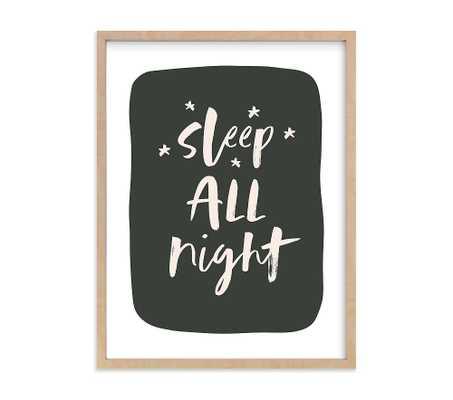Minted(R) Night & Day Sleep Wall Art by Erica Krystek, 18x24, Natural - Pottery Barn Kids
