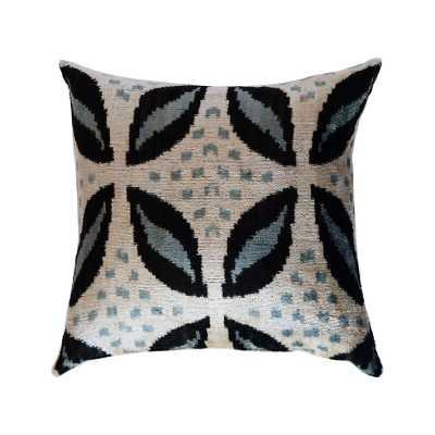 LOOMY Silk Feather Ikat Throw Pillow - Perigold