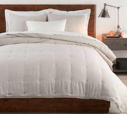 Flax Belgian Flax Linen Comforter & Shams, Twin - Pottery Barn
