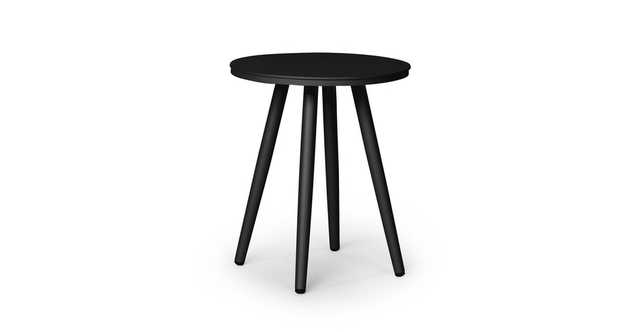 "Halden Dark Charcoal 16"" Round Side Table - Article"