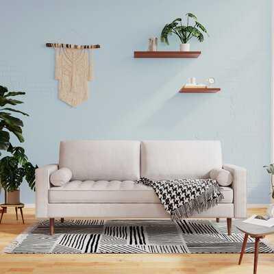 """Bridgeview 71"""" Wide Faux Leather Square Arm Sofa - Wayfair"""