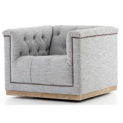 Maxx Swivel Chair in Manor Gray - Burke Decor
