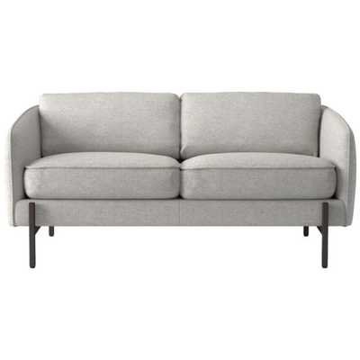 Hoxton Loveseat Hatch Platinum - CB2