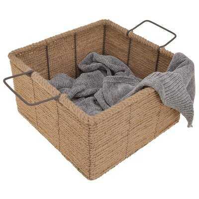 Hand-Woven Wicker Basket - Wayfair