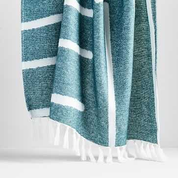 Graphic Throw, Royal Green - West Elm