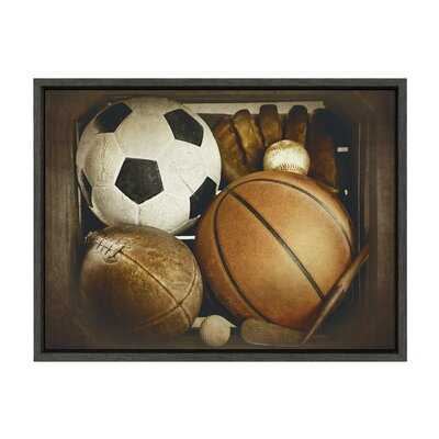 'Sports Gear' by Shawn St.Peter- Floater Frame Photograph Print on Canvas - Wayfair