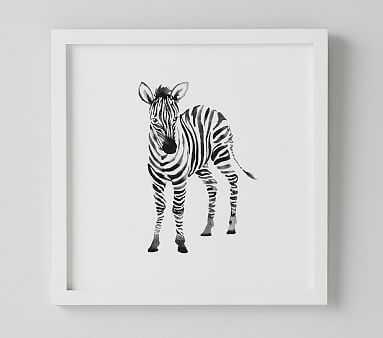 Zebra Nursery Animal Art - Pottery Barn Kids