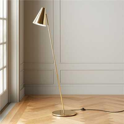 Task Polished Brass Floor Lamp - CB2