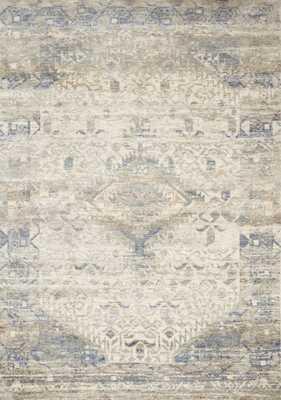 "Loloi Revere REV-06 Ivory / Blue 5'-0"" x 8'-0"" - Loma Threads"
