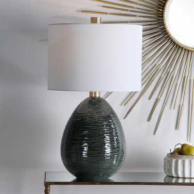 Uttermost Arikara Deep Teal Green Ceramic Table Lamp - Lamps Plus