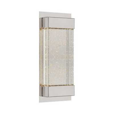 WAC Lighting Mythical 13 in. Polished Nickel 3000K LED Vanity Light Bar and Wall Sconce - Home Depot