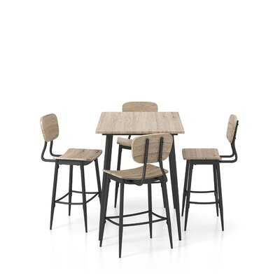 Broaddus 5 Piece Counter Height Dining Set - Wayfair