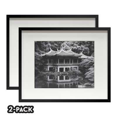 NONE Classic Gallery Double Pack Black Frame 16 in. x 20 in. Mat to 11 in. x 14 in. - Home Depot