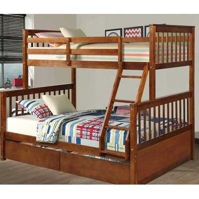 Biskra Twin Over Full Bunk Bed with 2 Drawers - Wayfair