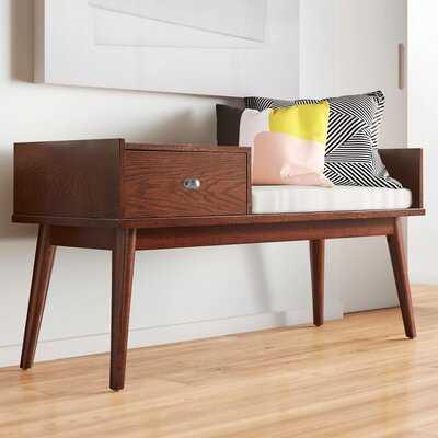 Domenic Wood Storage Bench - AllModern