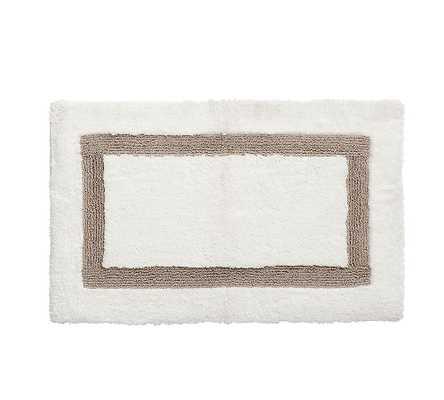 """Simply Taupe Morgan Memory Foam Bath Mat, 17x24"""" - Pottery Barn"""