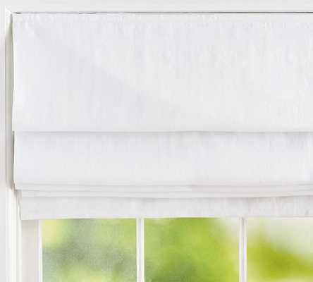 "Classic Belgian Linen Shade, 32 x 64"", White - Pottery Barn"