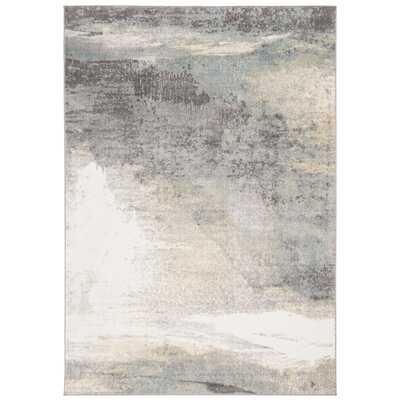 Muro Abstract Gray/Gold Area Rug - Wayfair