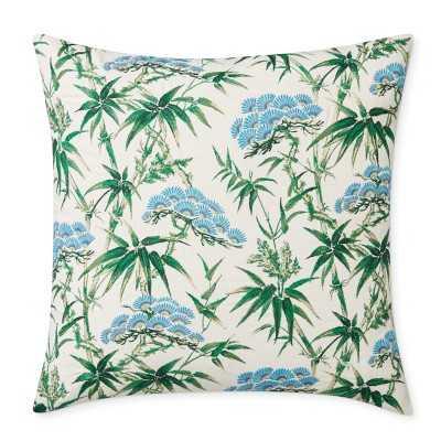 "Schumacher Arita Print And Embroidered Pillow Cover, 22"" X 22"", Green - Williams Sonoma"