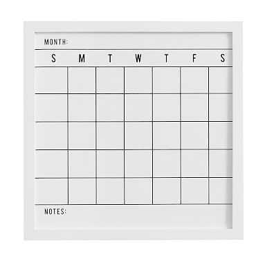 No Nails Study Wall Boards, Calendar, White - Pottery Barn Teen