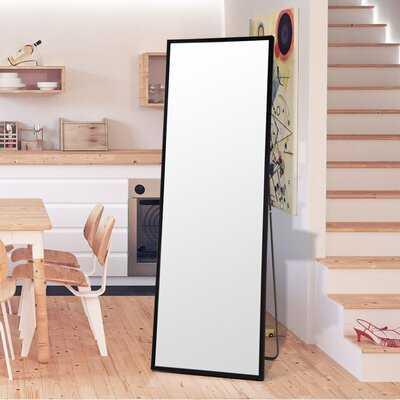 "Latitude Run® Full Body Mirror Full Length Floor Mirror Free Standing Black Dressing Mirror Home Décor (59"" X 19.7"") - Wayfair"